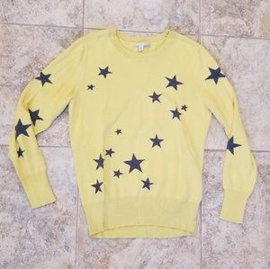 Halogen Great Condition Yellow & Gray Star Sweater